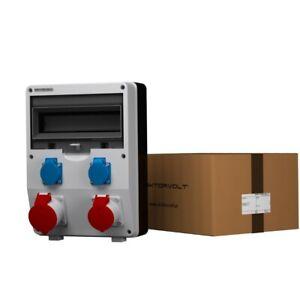 Distribution Board Power Box Eco 1x16A 1x32A 2x230 Building Site Wall 2602