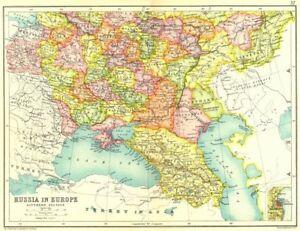 Russia On Europe Map.European Russia S Ukraine Poland Trans Caucasia Inset Odessa 1909