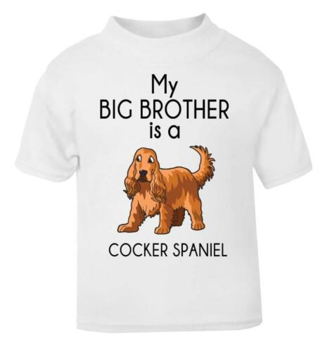 Baby T-Shirt Toddler Tee My Big Brother is a Cocker Spaniel Toddler T-Shirt