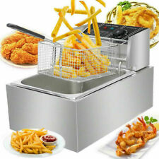 6l Single Tank Deep Fryer Withbasket Amp Lid Kitchen Frying Machine Homecommercial