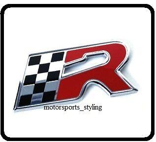 Cupra R Grill /& Rear Boot Badge Set Seat Leon Ibiza Black Red Emblem Sticker 52s