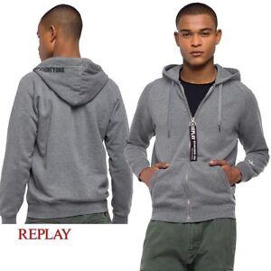 Felpa-da-uomo-REPLAY-giacca-aperta-con-cappuccio-e-tasche-in-cotone-grigio-M3671