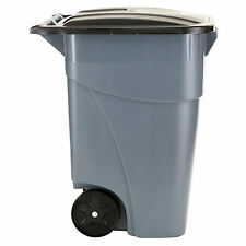 Large Trash Garbage Can Commercial Outdoor Container Rubbermaid Plastic 50 Gal