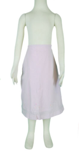JACADI Girl/'s Cafeine Marshmallow Skirt w// Embroidery Size 8 Years NWT $52
