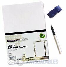 Premier A4 Drywipe Whiteboard Set. Free Slim Marker Pen & Mini Eraser! - 88072