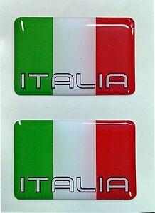 2x 3d Dôme Italie Drapeau Autocollants Italia Tricolore Pour Voiture Casque Moto Porte-afficher Le Titre D'origine Et D'Avoir Une Longue Vie.