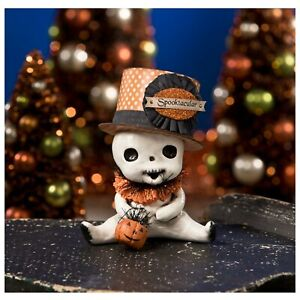 Bethany-Lowe-Spooktacular-Skelly-Baby-Ghost-Cute-Halloween-Figurine-Retro-Decor