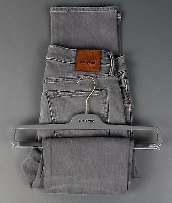 New Tom Ford Selvedge Denim Jeans Gray Size 38 Straight Fit Model