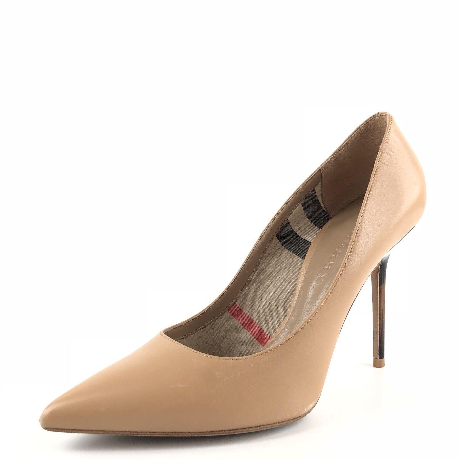 Burberry Deighton Deighton Deighton Camel Cuero Casuales Bombas Zapatos de tacón para mujer Talla 37.5 m  550   centro comercial de moda