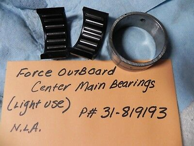 Force Outboard Center Main Bearing Light USe P# 31-819193 NLA From the Factory