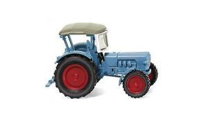 Eicher-Konigstiger-azul-claro-1959-Wiking-087103-H0-1-87-Tractor-tractor-modelo