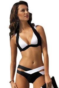 LC41249-Costume-da-Bagno-2-Pezzi-Bikini-Bicolore-Bianco-e-Nero-con-Coppe-Push-Up