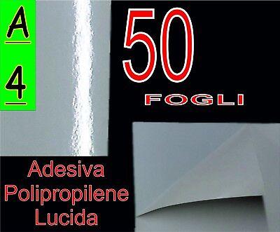 in vinile lucido trasparente Foglio A4 di carta autoadesiva stampabile 297 x 210 mm