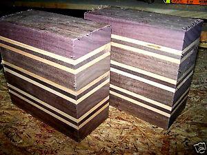 2 Exotic Kiln Dried Sapele Bowl Blanks Lumber Wood Turning 6 X 3