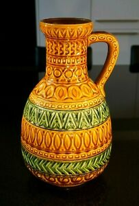 Stunning-Large-Vintage-West-German-Fat-Lava-Vase