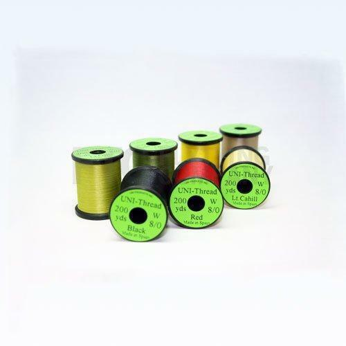 Uni-Thread 8//0 Waxed 200yd Fly Tying ThreadChoice of Colours