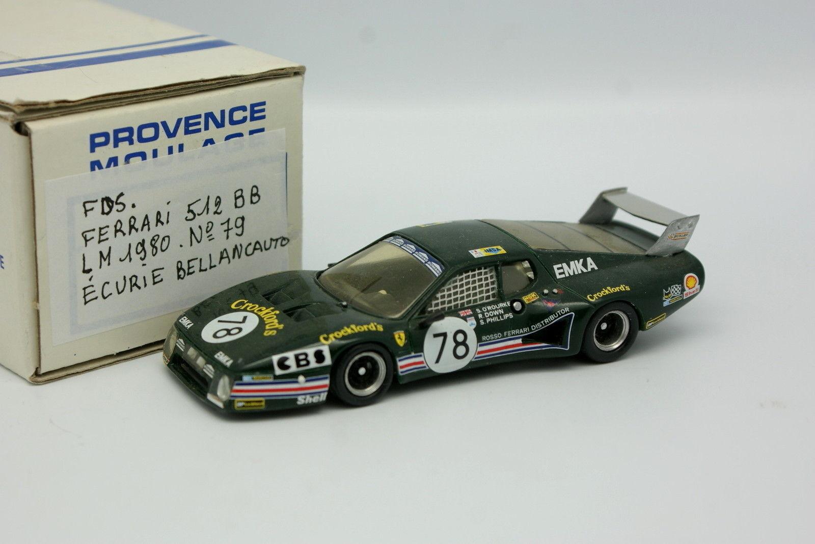 buena calidad Fds 1 43- 43- 43- Ferrari 512 BB Bellancauto Le Mans 1980 N º 79  Venta en línea de descuento de fábrica