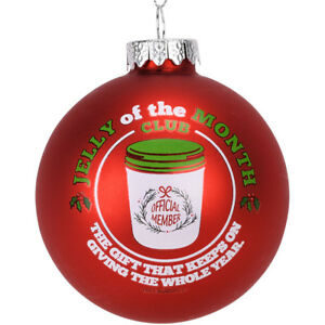 Tree-Buddees-Jelly-of-The-Month-Club-Red-Glass-Christmas-Ornament-Funny-Xmas