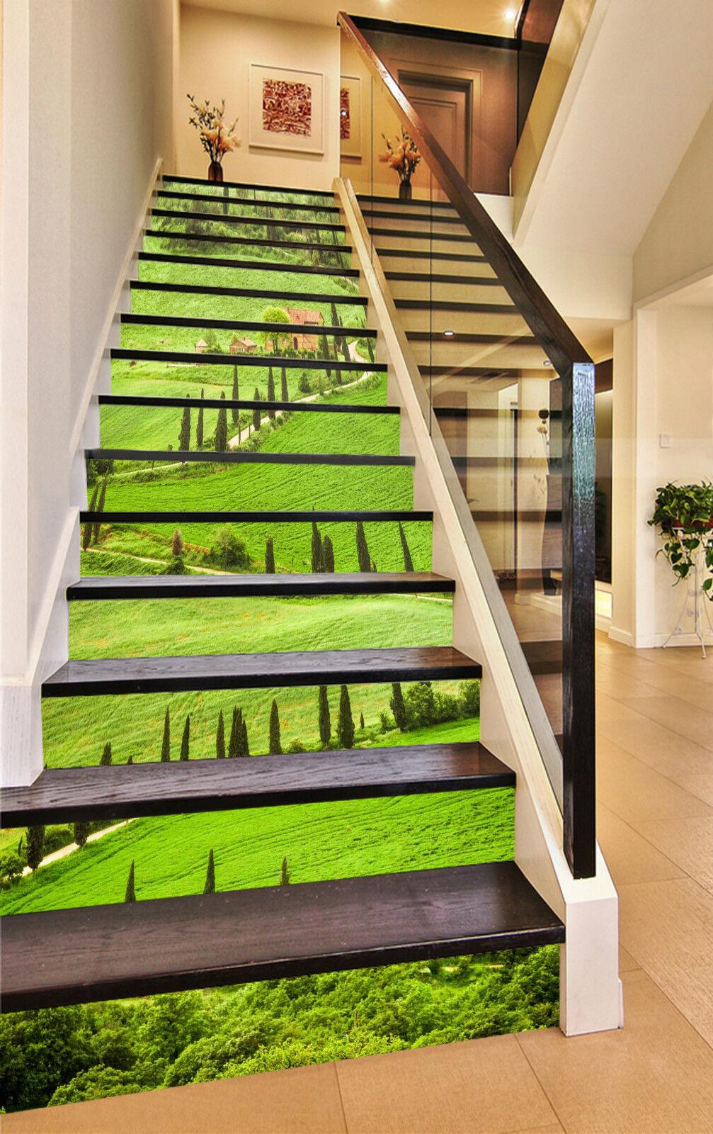 3D Grn Rasen 235 Stair Risers Dekoration Fototapete Vinyl Aufkleber Tapete DE
