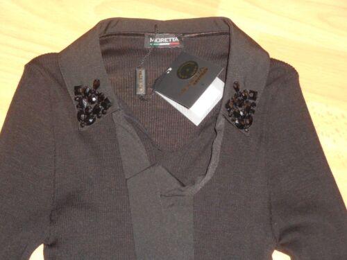 en longues en Luxury dᄄᆭtachable manches Moretta col Top et ᄄᄂ lavalier 40 laine avec soie 9Ie2bYEWDH