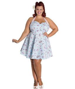 63cb3a3c58662 Sale! Plus Size Blue Kitten Anime Cotton Dress 2XL 3XL 4XL Summer ...