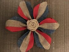 Vintage Americana Red Beige Blue Ribbon Flower Rose Wedding Cake July USA Set 2