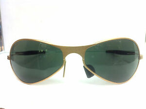 082d09806b Vintage B L Ray Ban Orbs Matte Gold Frame Sunglasses Without Case ...