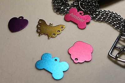 Personalized Engraved A Lot Shape Pet Dog Cat Tag Id  With Ring Aluminium Tag