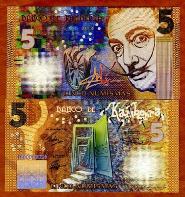 New Color for 2015 Kamberra UNC /> Blue Salvador Dali 2015 5 Numismas