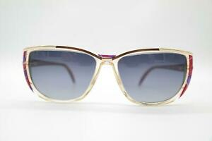 Vintage-Rodenstock-501-Gold-Transparent-Multicoloured-Oval-Sunglasses