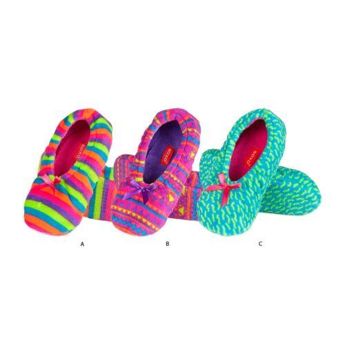3 Designs /& 2 UK Sizes Ladies Super Soft Sole Neon Fluffy Fleece Full Slippers