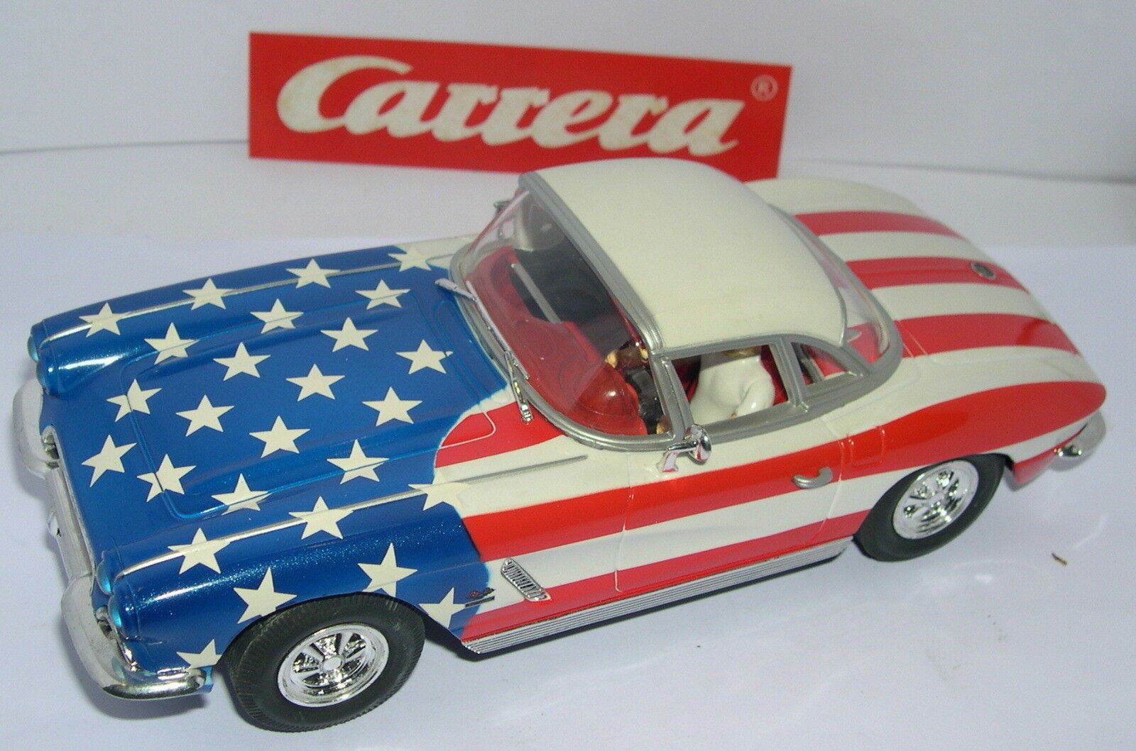 CARRERA EXCLUSIV 20490 CHEVROLET CORVETTE 1962 STARS AND STRIPES UNBOXED MINT