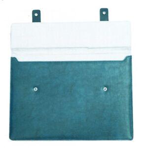 Premium-De-Piel-Azul-De-MacBook-13-034-Air-Pro-Funda-Acolchado-Retro-De-Diseno