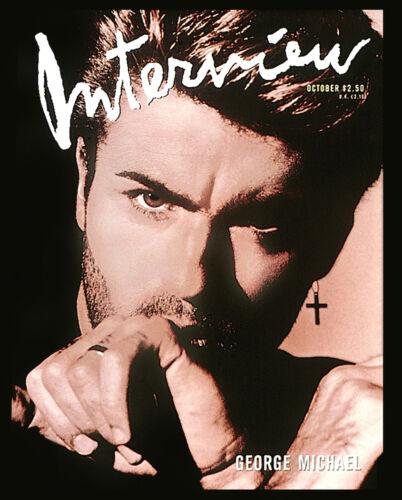 """Interview Magazine GEORGE MICHAEL • COVER ART Replica 16x20"""" Non Fade Photograph"""