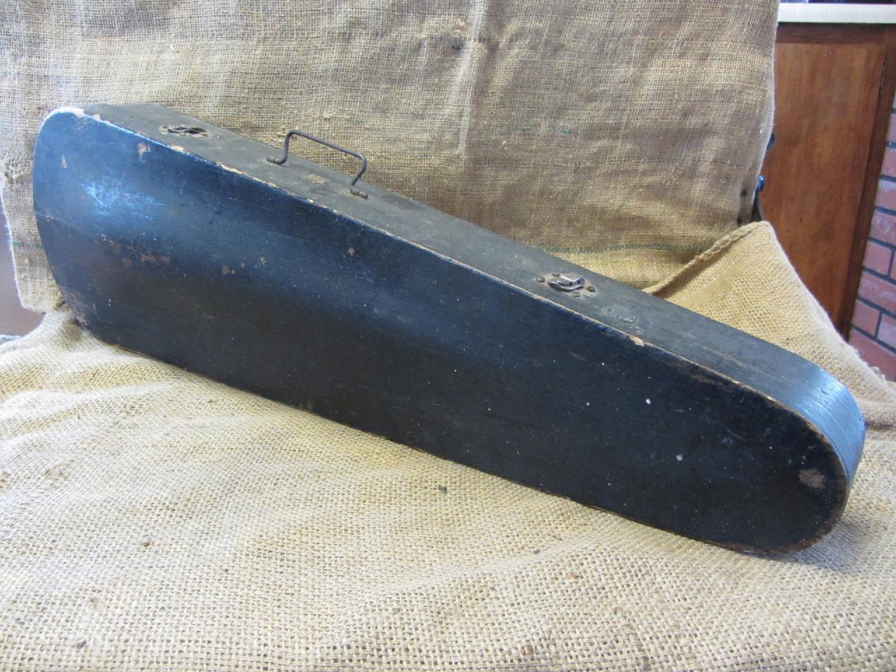 Vintage Wooden Violin Case   Antique Instrument Musical Music Gear RARE 9268