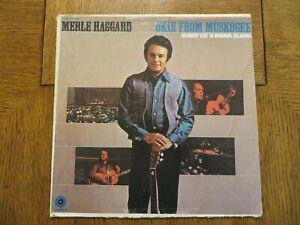 Merle Haggard & The Strangers – Okie From Muskogee (Live) 1969 Vinyl LP VG+/G+!