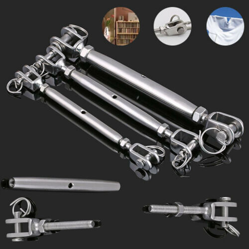 M4-M12 Stainless Steel 316 Jaw /& Swage End Fitting Turnbuckle Balustrade DIY