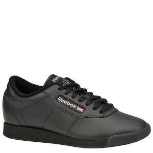 Reebok Princess Classic Black Women Casual Walking Comfort Shoes 7344 7 39315d132
