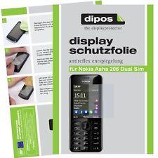 Nokia Asha 206 Dual Sim Schutzfolie matt Displayschutzfolie Folie Antireflex