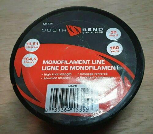 South Bend 30lb 180yds Clear Monofilament Line ~ M1430 Fishing Line