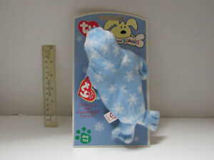 582e0edf319 Blue Seal RETIRED TY Bow WOW Beanie made for DOG Pet chew Toy Rare 6 ...