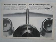 6-12/1975 PUB BOEING YC-14 STOL AIRCRAFT COANDA EFFECT USAF ORIGINAL AD