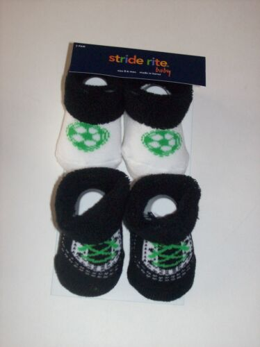 Phat Farm Stride Rite 2pr Crib Shoes Booties Socks Boys 0-6 0-12 Mos New