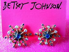 Betsey Johnson Snowflake Stud Earrings