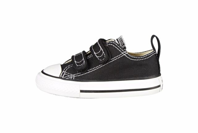 674184e9110 Converse Shoes All Star Chuck Taylor Black 2 Strap Low Infant Baby Sneakers  Boys