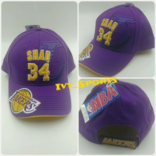 NBA Los Angeles Lakers Shaquille O neal  34 Vintage Hat for sale ... 35d638a6951f