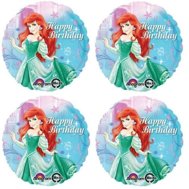 "Ariel The Little Mermaid Disney Princess Birthday Decorations 18/"" Foil Balloon"