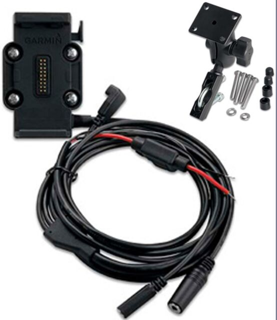 garmin zumo 665lm complete motorcycle power cable clutch/handlebar mount  kit nib for sale online