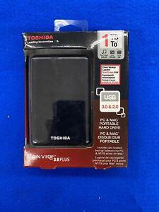 Toshiba Canvio 3.0 PLUS 1TB Portable External Hard Drive USB 3.0 Black