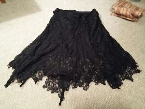 000-Sexy-Black-Lace-Cache-Skirt-Size-8-Women-039-s